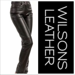 Wilson leather pants black